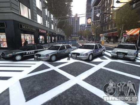 Ford Crown Victoria NYPD Auxiliary для GTA 4 вид изнутри