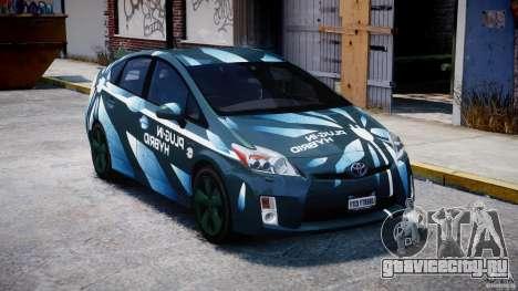Toyota Prius 2011 PHEV Concept для GTA 4 вид сзади