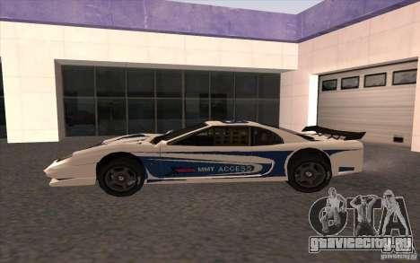 Новый Turismo для GTA San Andreas вид слева