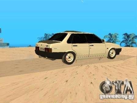 ВАЗ 21099 Зимняя для GTA San Andreas вид слева