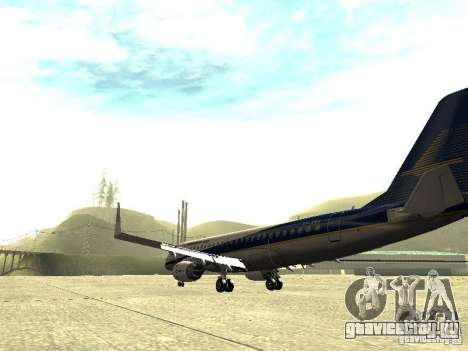 Embraer E-190 для GTA San Andreas вид сзади слева