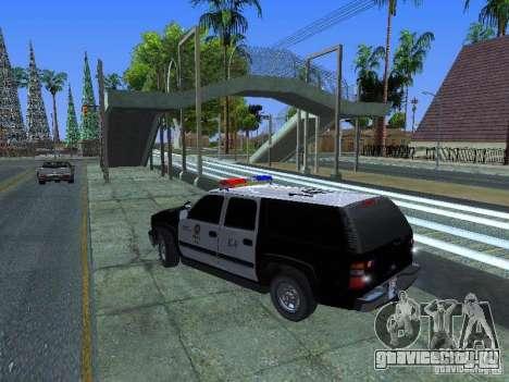 Chevrolet Suburban Los Angeles Police для GTA San Andreas вид слева