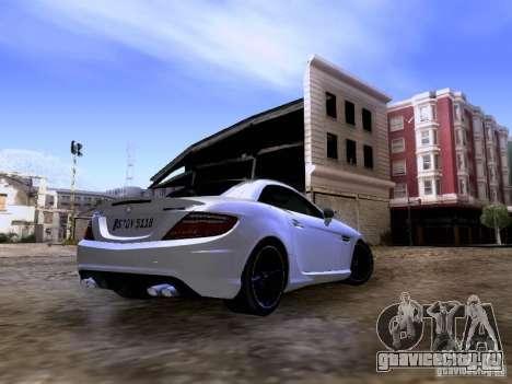 Mercedes-Benz SLK55 AMG 2012 для GTA San Andreas вид справа