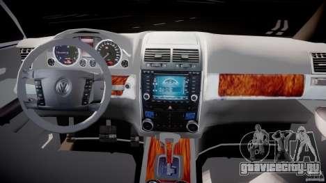 Volkswagen Touareg 2008 TDI для GTA 4 вид сзади
