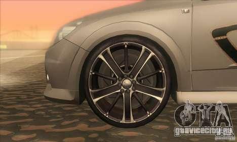 Opel Astra GTC DIM v1.0 для GTA San Andreas вид изнутри