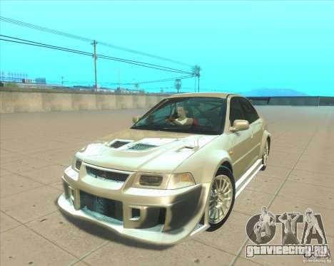 Mitsubishi Lancer Evolution VI 1999 Tunable для GTA San Andreas вид изнутри