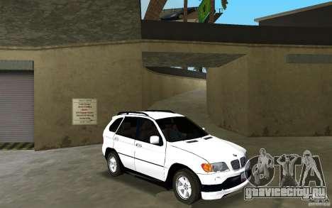 BMW X5 для GTA Vice City вид сзади