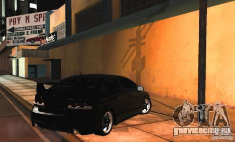 Honda Civic JDM для GTA San Andreas вид изнутри