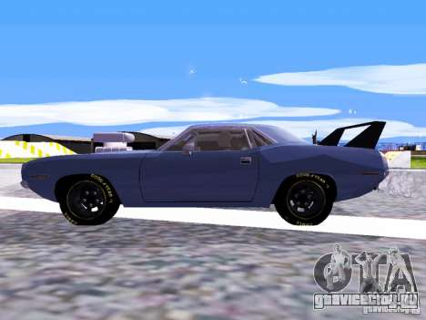 Plymouth Cuda AAR 340 1970 Muscle Cars для GTA San Andreas вид сзади слева