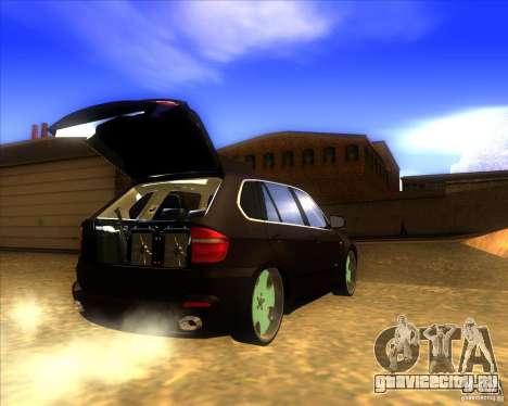 BMW X5 dubstore для GTA San Andreas вид изнутри