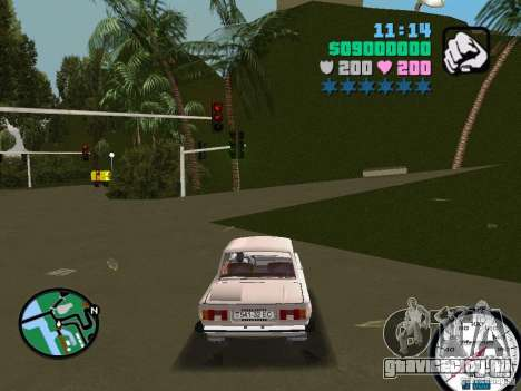 ЗАЗ 968 для GTA Vice City вид слева