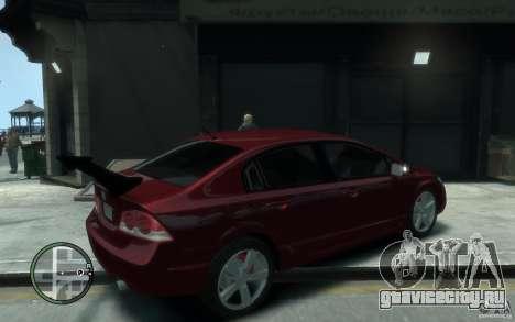 Honda Civic 2006 для GTA 4 вид справа