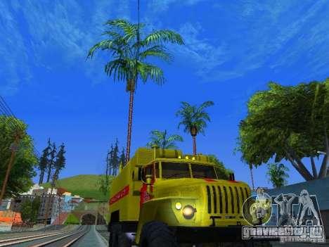 Урал 4320 ГОРСВЕТ для GTA San Andreas вид сзади