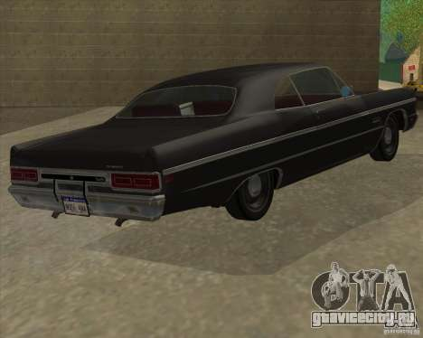 Plymouth Fury III coupe 1969 для GTA San Andreas вид слева