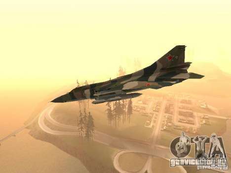 Миг-23 для GTA San Andreas вид сзади слева