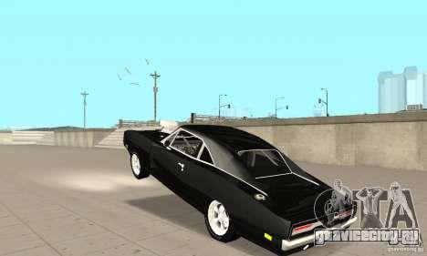 Dodge Charger RT 1970 The Fast & The Furious для GTA San Andreas вид изнутри