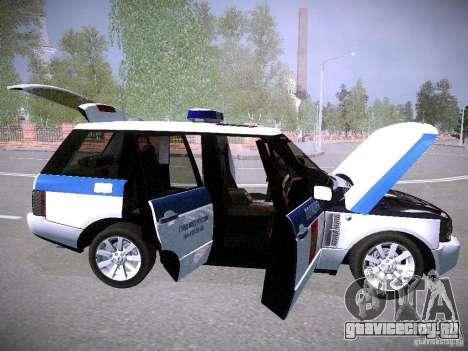 Range Rover Supercharged 2008 Полиция ГУВД для GTA San Andreas вид снизу