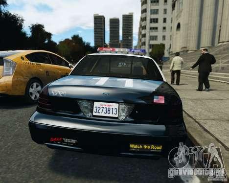 Ford Crown Victoria LAPD для GTA 4 вид изнутри