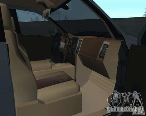 Dodge Ram Hemi для GTA San Andreas вид сзади