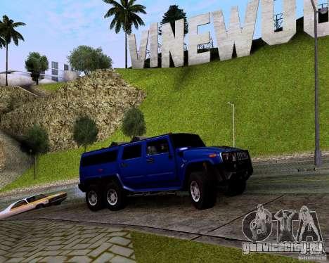 Hummer H6 для GTA San Andreas вид сзади