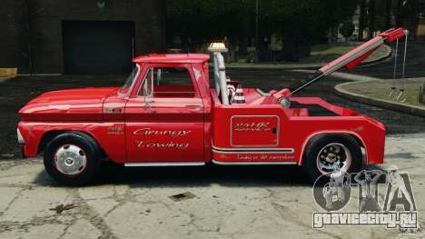 Chevrolet C20 Towtruck 1966 для GTA 4 вид слева