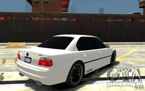 BMW 750i E38 HAMANN для GTA 4 вид справа