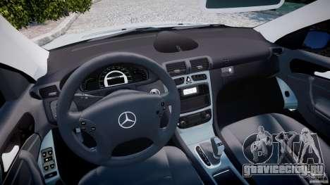 Mercedes-Benz C32 AMG 2004 для GTA 4 вид сзади