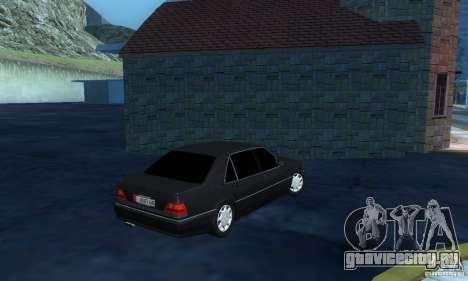 Mercedes-Benz W140 S600 Long Deputat Style для GTA San Andreas вид справа