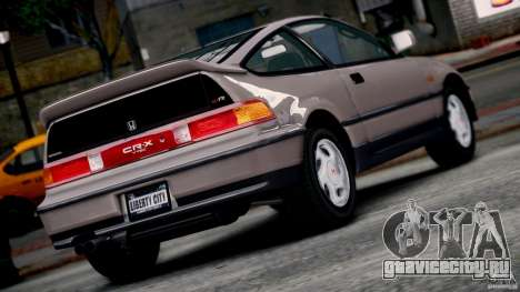 Honda CR-X SiR 1991 для GTA 4 вид слева
