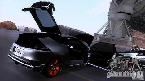 Honda CR-Z Mugen 2011 V1.0 для GTA San Andreas вид снизу