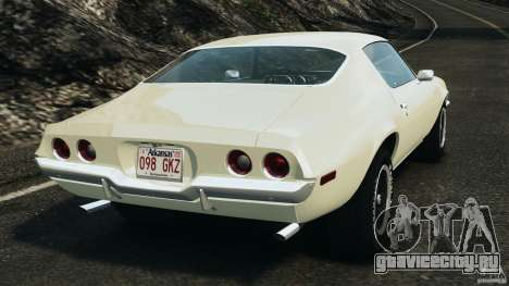 Chevrolet Camaro 1970 v1.0 для GTA 4 вид сзади слева