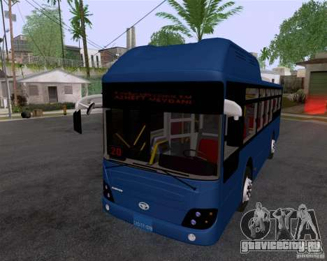 Daewoo Bus BAKU для GTA San Andreas вид сзади слева