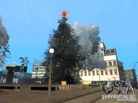 Новый Год на Гроув Стрит для GTA San Andreas восьмой скриншот