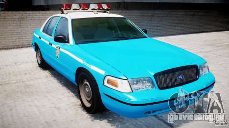 Ford Crown Victoria Classic Blue NYPD Scheme для GTA 4 вид слева