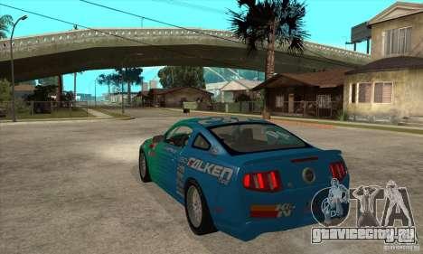 Ford Mustang GT Falken для GTA San Andreas вид сзади слева