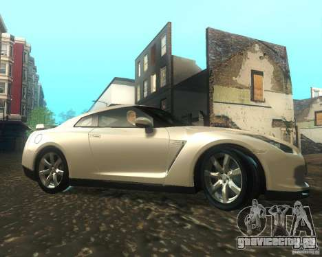 Nissan GTR R35 Spec-V 2010 Stock Wheels для GTA San Andreas вид сзади