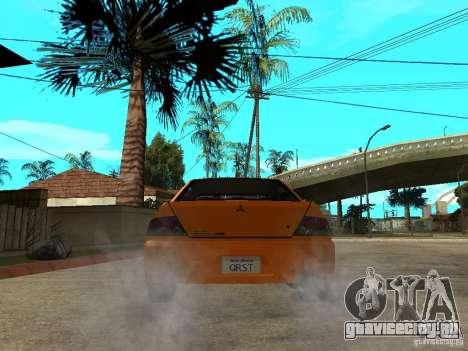 Mitsubishi Lancer Evo IX MR Edition для GTA San Andreas вид снизу
