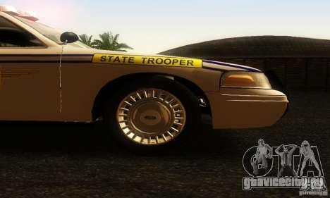 Ford Crown Victoria South Carolina Police для GTA San Andreas вид справа