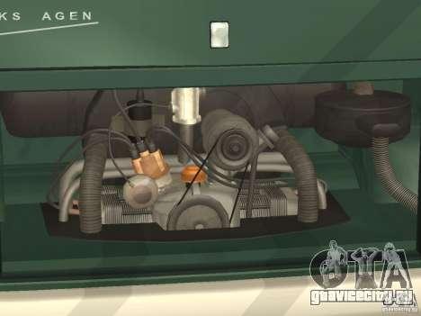 Volkswagen Transporter T1 Camper для GTA San Andreas вид изнутри