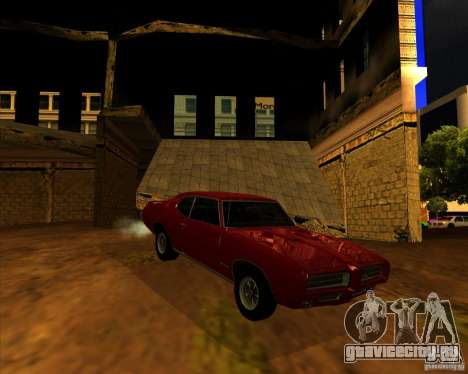 Pontiac GTO 1969 для GTA San Andreas вид справа