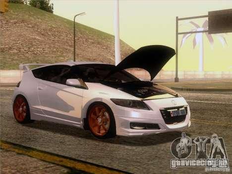 Honda CR-Z Mugen 2011 V2.0 для GTA San Andreas вид сзади слева