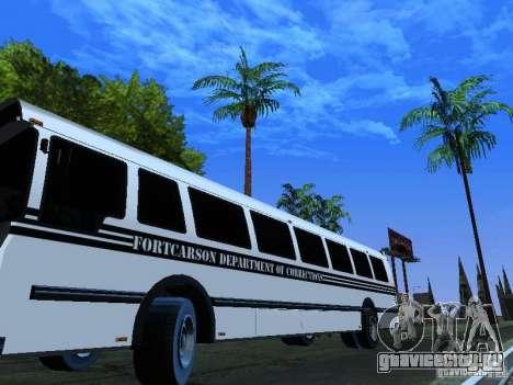 Prison Bus для GTA San Andreas вид сбоку