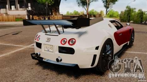 Bugatti Veyron 16.4 Body Kit Final Stock для GTA 4 вид сзади слева