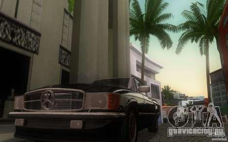 Mercedes-Benz 350 SL Roadster для GTA San Andreas вид изнутри