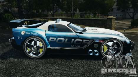 Dodge Viper SRT-10 ACR ELITE POLICE [ELS] для GTA 4 вид слева