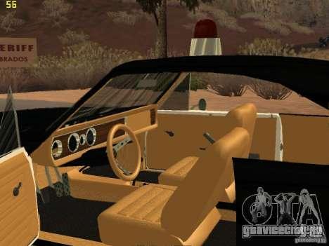 Chevrolet Opala Police для GTA San Andreas вид сзади