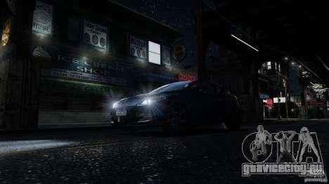 Renault Megane RS 250 для GTA 4 салон