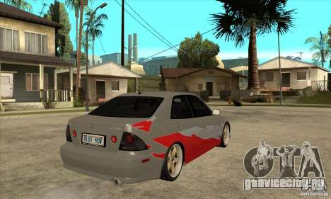 Lexus IS300 Tunable для GTA San Andreas вид справа