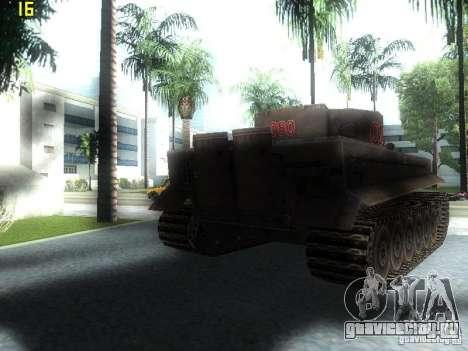 Tiger для GTA San Andreas вид сзади слева