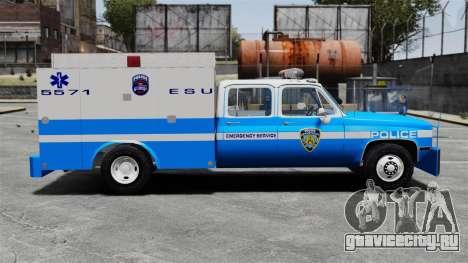 GMC C3500 NYPD ESU для GTA 4 вид слева